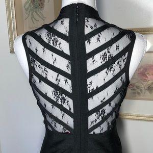 WOW COUTURE Dresses - Wow Couture Black Body-Con Mesh Top Midi SzM
